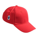 The Ash Brushed Cotton Red Cap