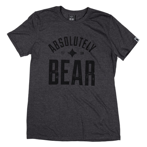 Woodland Grey Distressed Circle Bear Logo T-Shirt