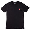 The Aspen Embroidered Logo Brushed Cotton Black T-Shirt