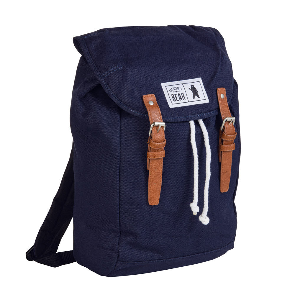 The Cedar 100% Cotton Canvas Blue Backpack