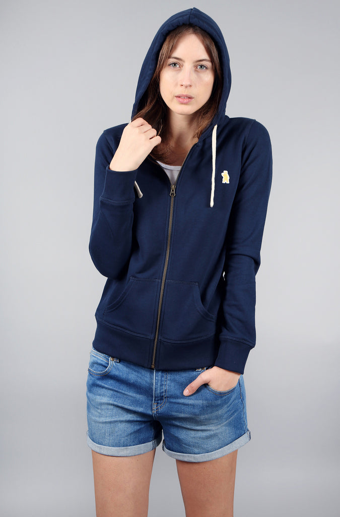 Women's Organic Cotton Navy Hoodie