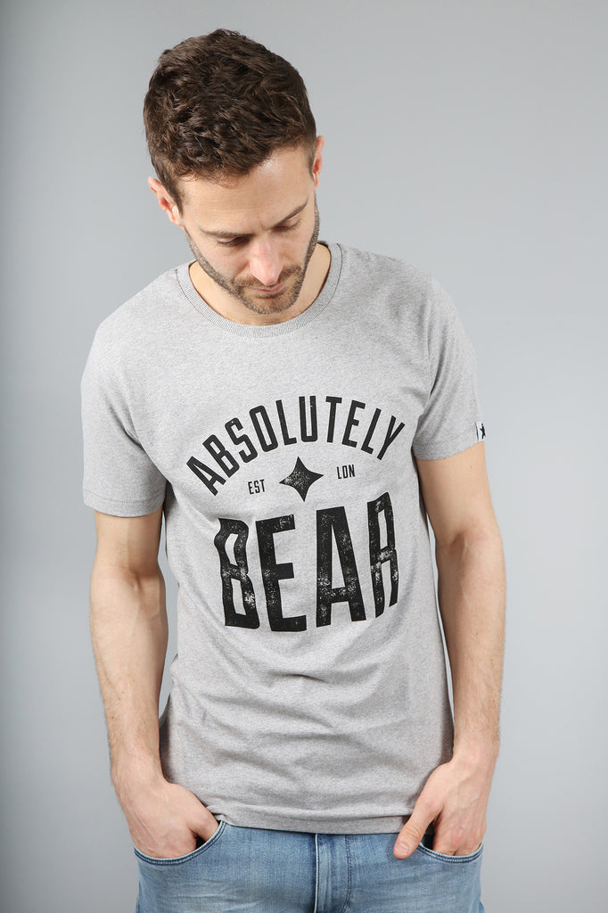 Urban Grey Distressed Logo T-Shirt