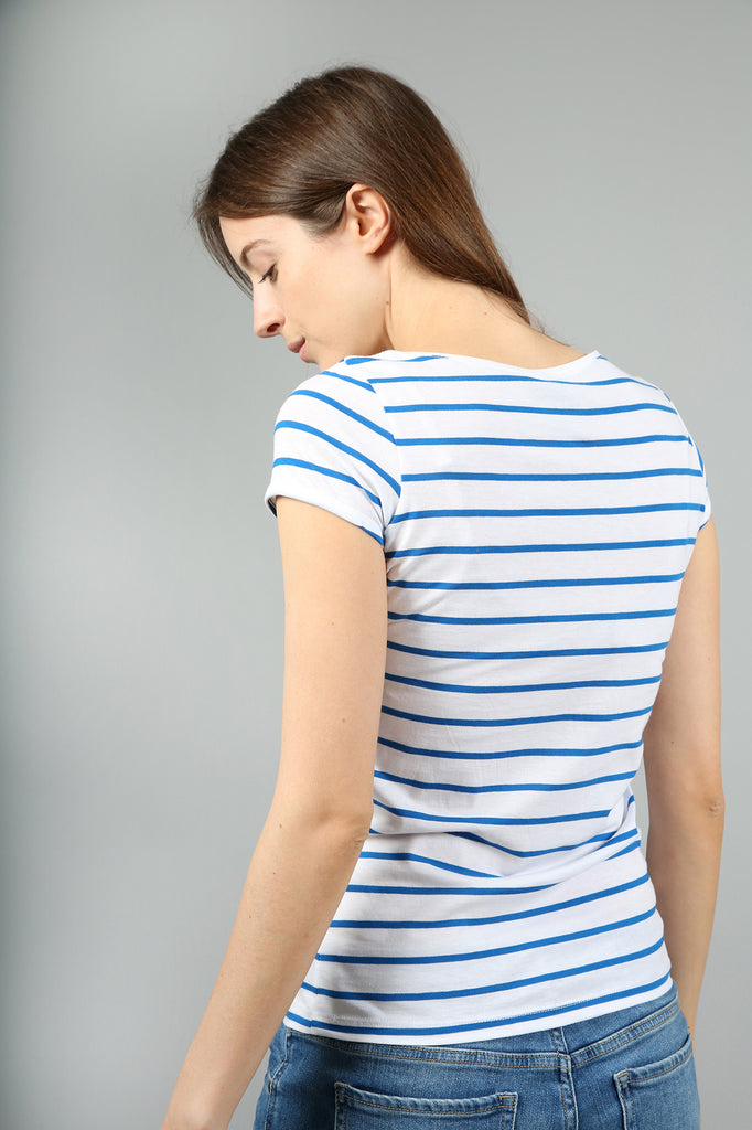 The Henley Blue Striped Organic Cotton T-Shirt