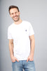 The Aspen Embroidered Logo Brushed Cotton White T-Shirt