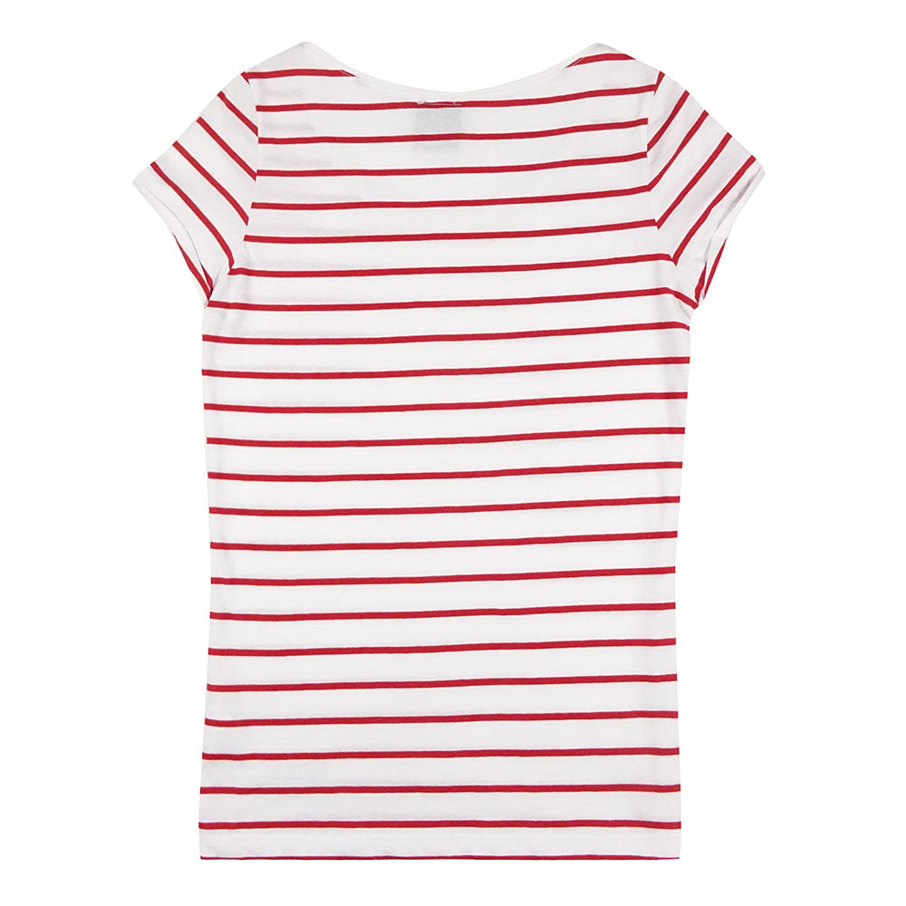 The Henley Red Striped Organic Cotton T-Shirt