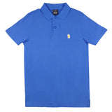 Navy Brushed Cotton Polo Shirt
