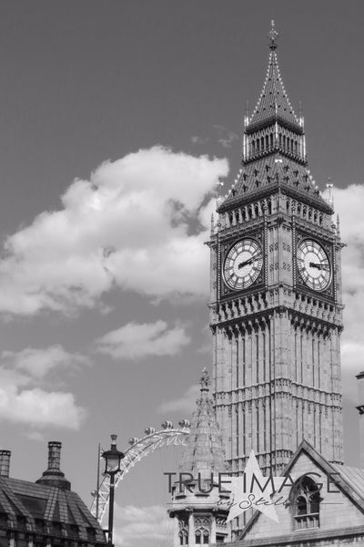 Big Ben and London Eye - London, England, United Kingdom