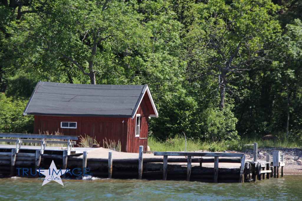 Red boat house - Stockholm Archipelago, Sweden