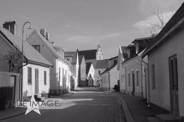 Cobbled street - Visby Old town, Gotland, Sweden