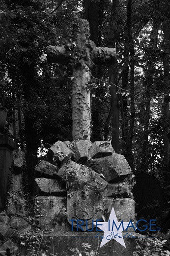 Old stone cross - Highgate Cemetery, London, England, United Kingdom