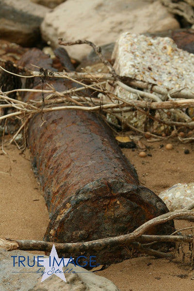 World War II gun on the beach - Darwin, Australia