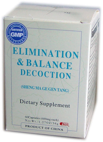 sheng ma ge gen tang (Elimination & Balance Decoction)