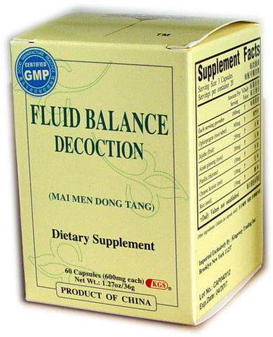 mai men dong tang (Fluid Balance Decoction)