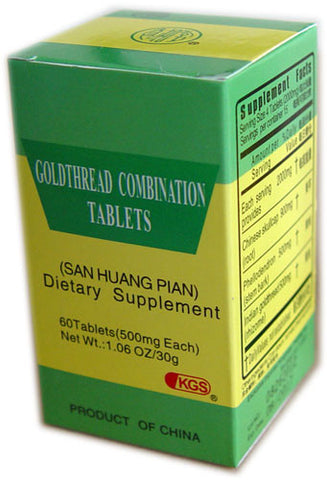 san huang pian (Goldthread Combination Tablets)
