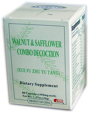 xue fu zhu yu tang (Walnut & Safflower Combo Decoction)