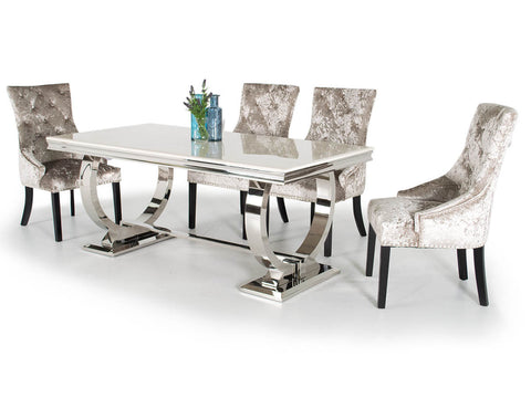 Antoinette  Grey Marble Dining Table 2000 mm