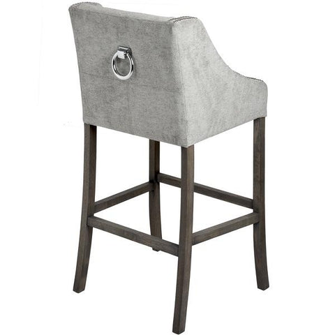 Luxury deep buttoned Bar chair with knocker back