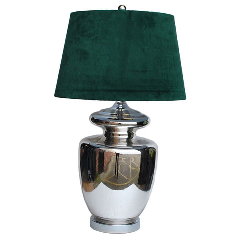 Russo table lamp complete with Green shade