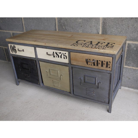 Urban Vintage Industrial Cafe cabinet CLEARANCE click n collect