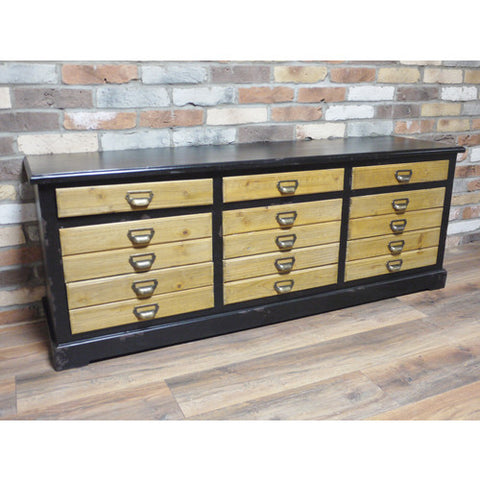 Low Industrial 9 drawer  cabinet / sideboard