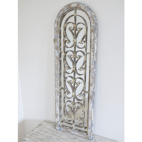 Antiqued arch Door rustic Gothic  mirror