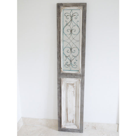 Tall Rustic Mirror Door Window