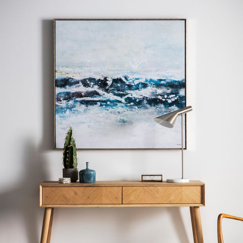 Pacific Ocean   Waves Contemporary  framed Wall Art