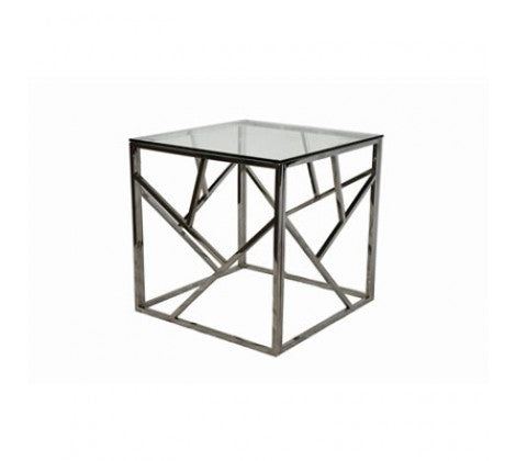 Alluring  chrome side table