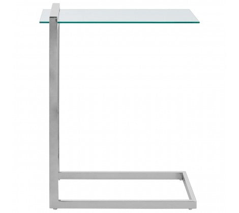 Oria sofa table chrome and clear glass
