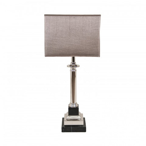 Krista Marble and Nickel table lamp with shade 5546  Reduced Price !
