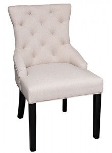 Merciano Linen Dining chairs  in cream /beige or grey