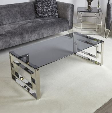 Apex Smoked Glass Coffee Table Click and Collect