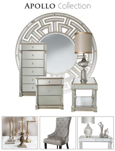 Appian aztec mirror  Silver available to order