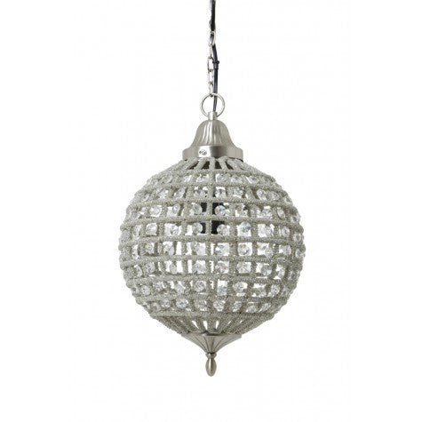 Hanging Ball Lamp with Crystals Cheyenne Size 2