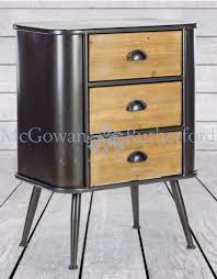 Camden Industrial 3 drawer bedside locker CLEARANCE OFFER Click N Collect