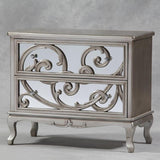 Rococco 2 drawer chest of drawers silver sold as seen save 100
