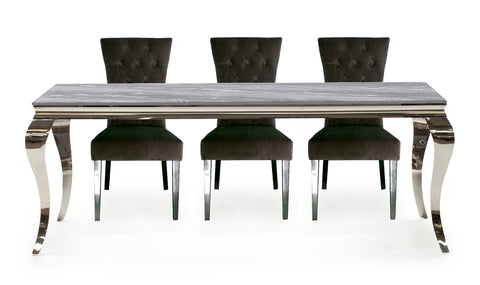 Fabien.  Marble look dining table in 3 great sizes