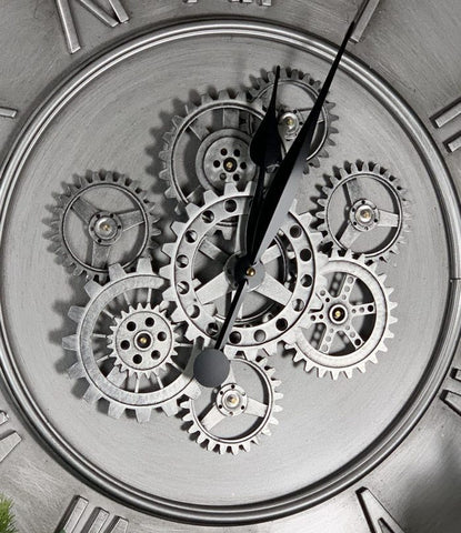 Dynasty 80 cm clock with moving gears