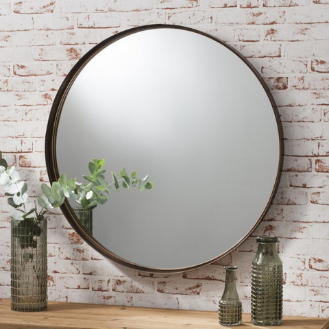 Greystoke round minimalist mirror 840 mm. 3 only ! Click N Collect