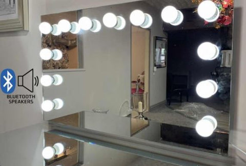 Hollywood large Mirror with Bluetooth 120 x 60 Table top complete with bulbs due back soon
