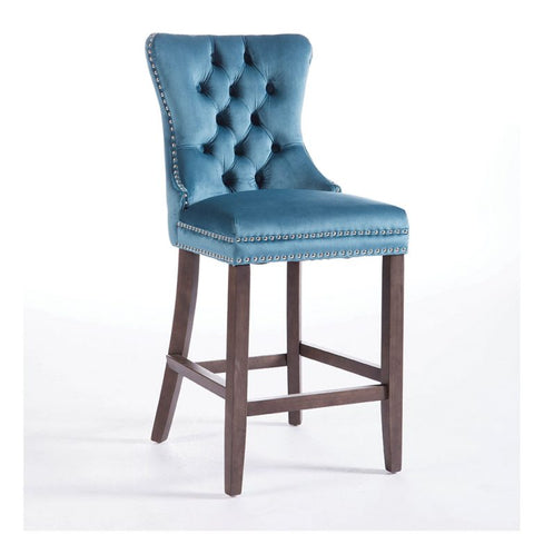 Kayla Velvet Bar Stools in 5 Colour choices