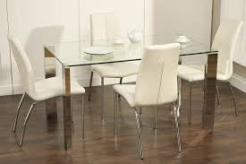 Kansas Glass and stainless steel Table
