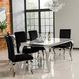 Louis dining table  in 160 cm white