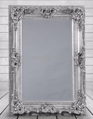 Ornate French Mirror Silver   285