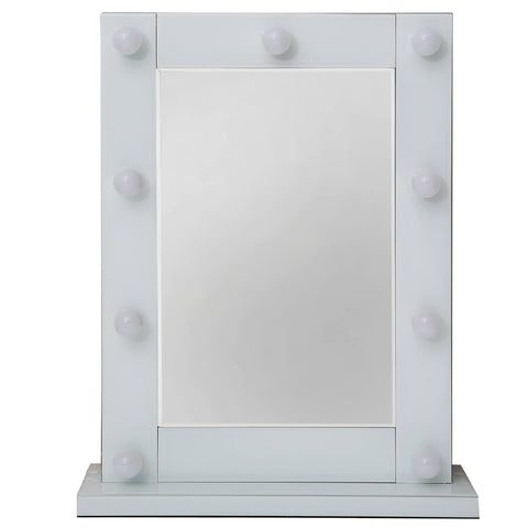 White  Hollywood mirror Broadway freestanding.