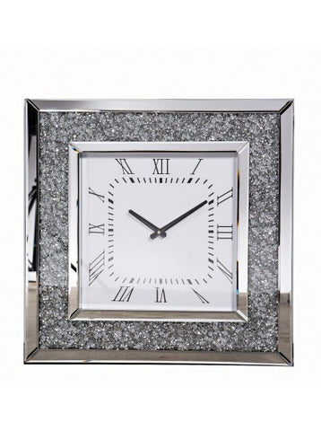 Megan  Crushed Diamond Clock Special Value