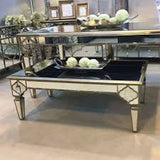 Marrakech Antique Mirror Coffee Table With Frosted Mirror Panels