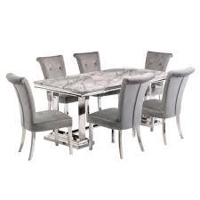 Missy  180 cm rectangle  dining table grey