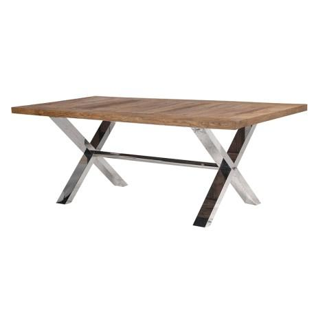 Elm X Cross stainless legs dining table