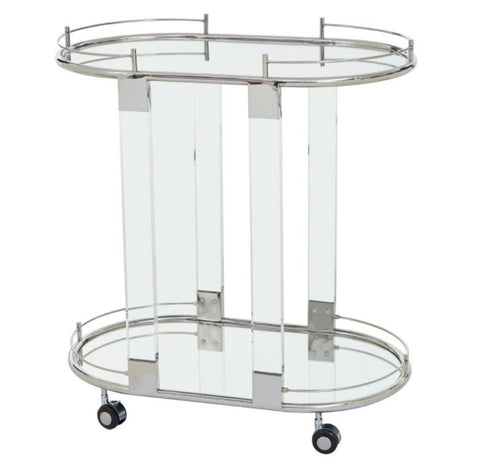 Oria Silver Drinks Trolley PRE ORDER